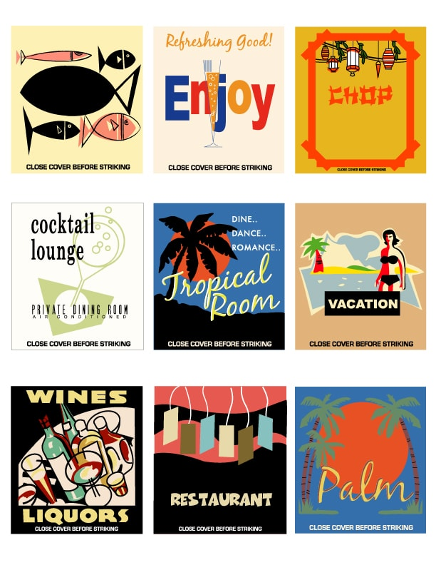 matchbook covers