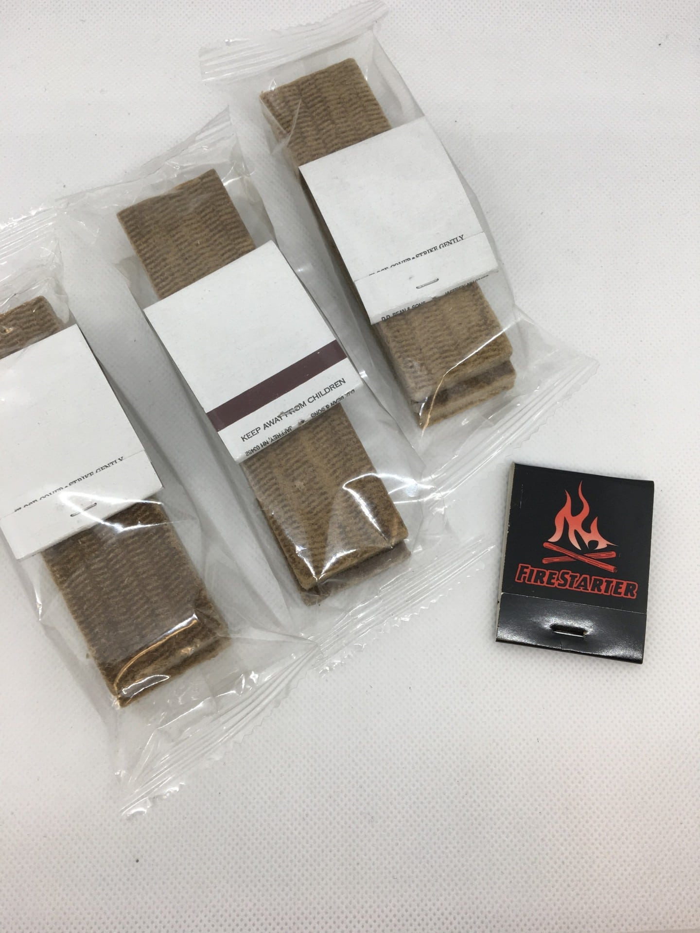 Firestarters with matchbook